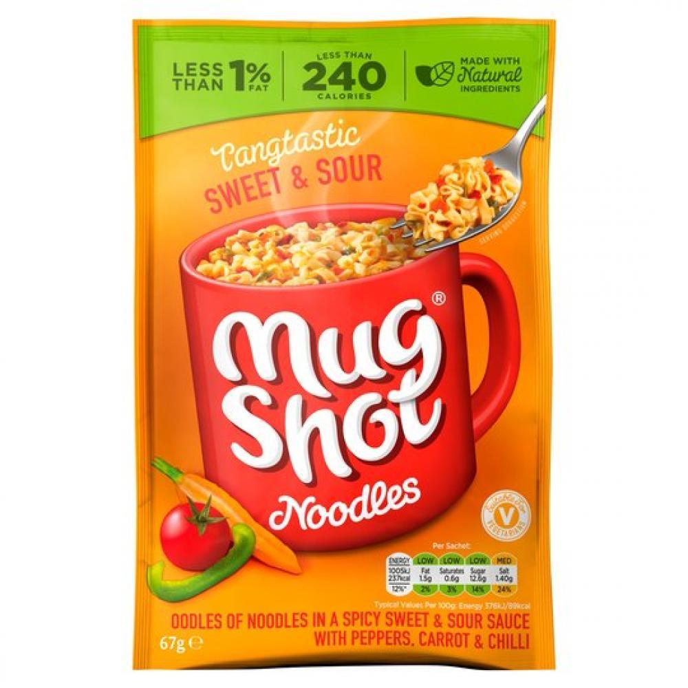 Mug Shot Sweet and Sour Flavour Noodles 67g