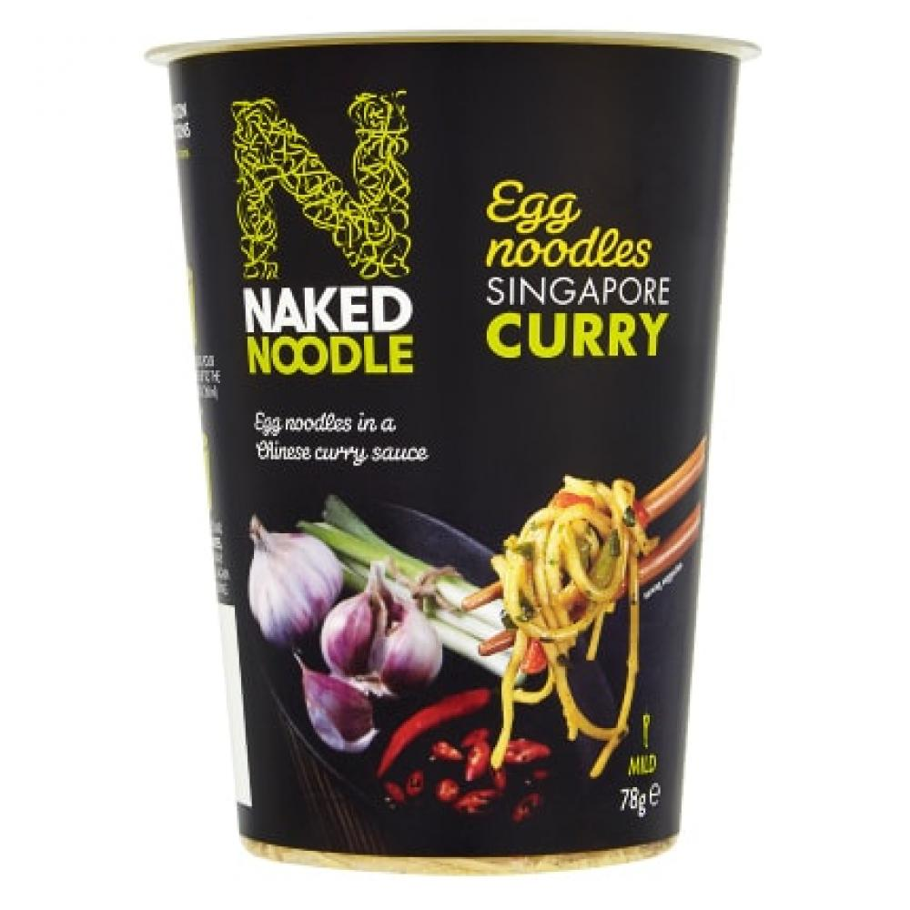 Naked Noodle Singapore Curry Egg Noodles 78g