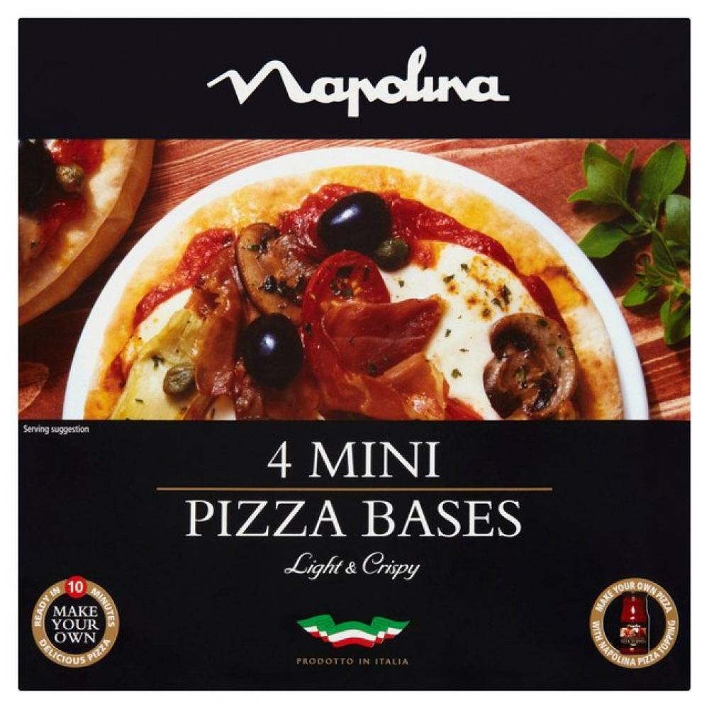 Napolina 4 Mini Pizza Bases