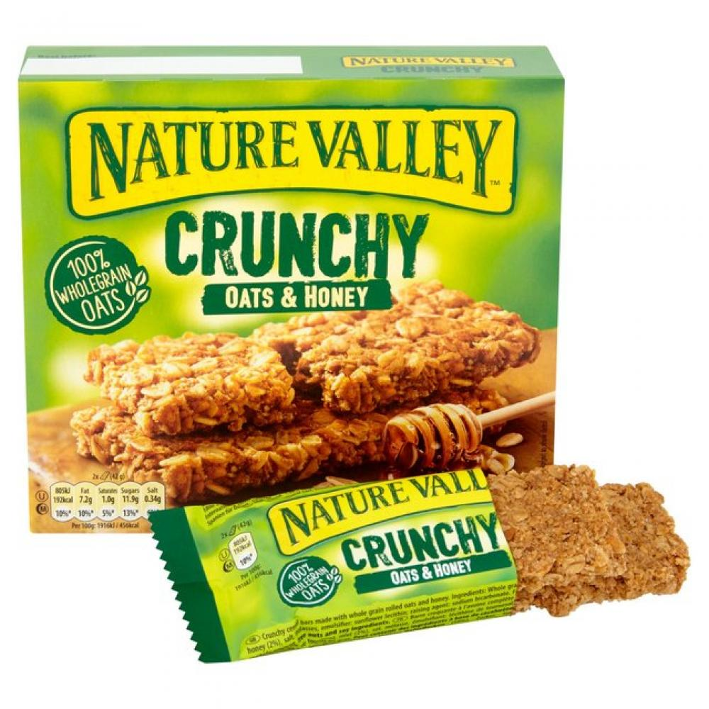 Nature Valley Crunchy Granola Oat And Honey Bars Pack of 5 210 g