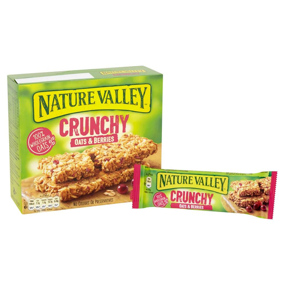 Nature Valley Crunchy Oats and Berries Cereal Bars 210g