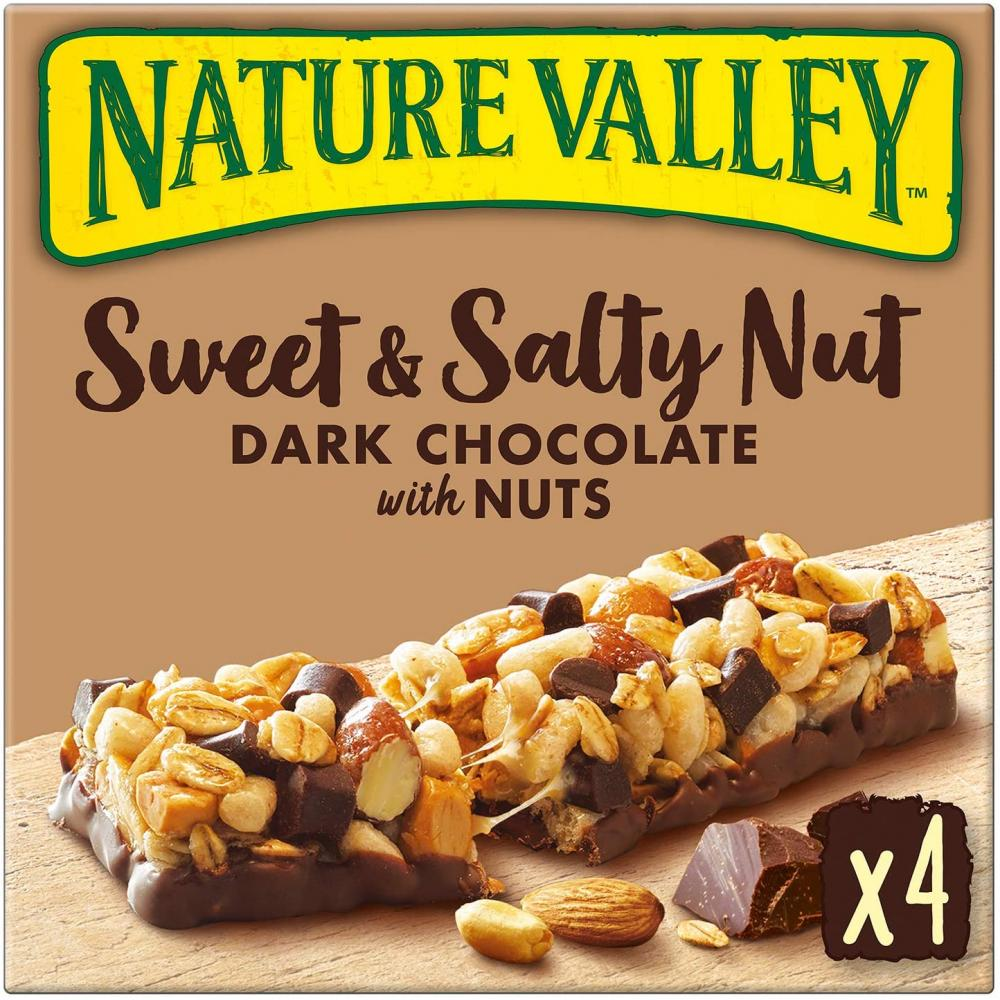 Nature Valley Sweet and Salty Nut Dark Chocolate With Nuts 4x30g