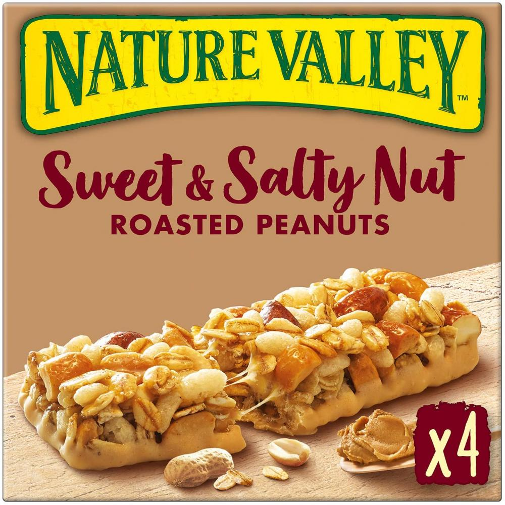 Nature Valley Sweet and Salty Nut Roasted Peanuts Cereal Bars 4 x 30g