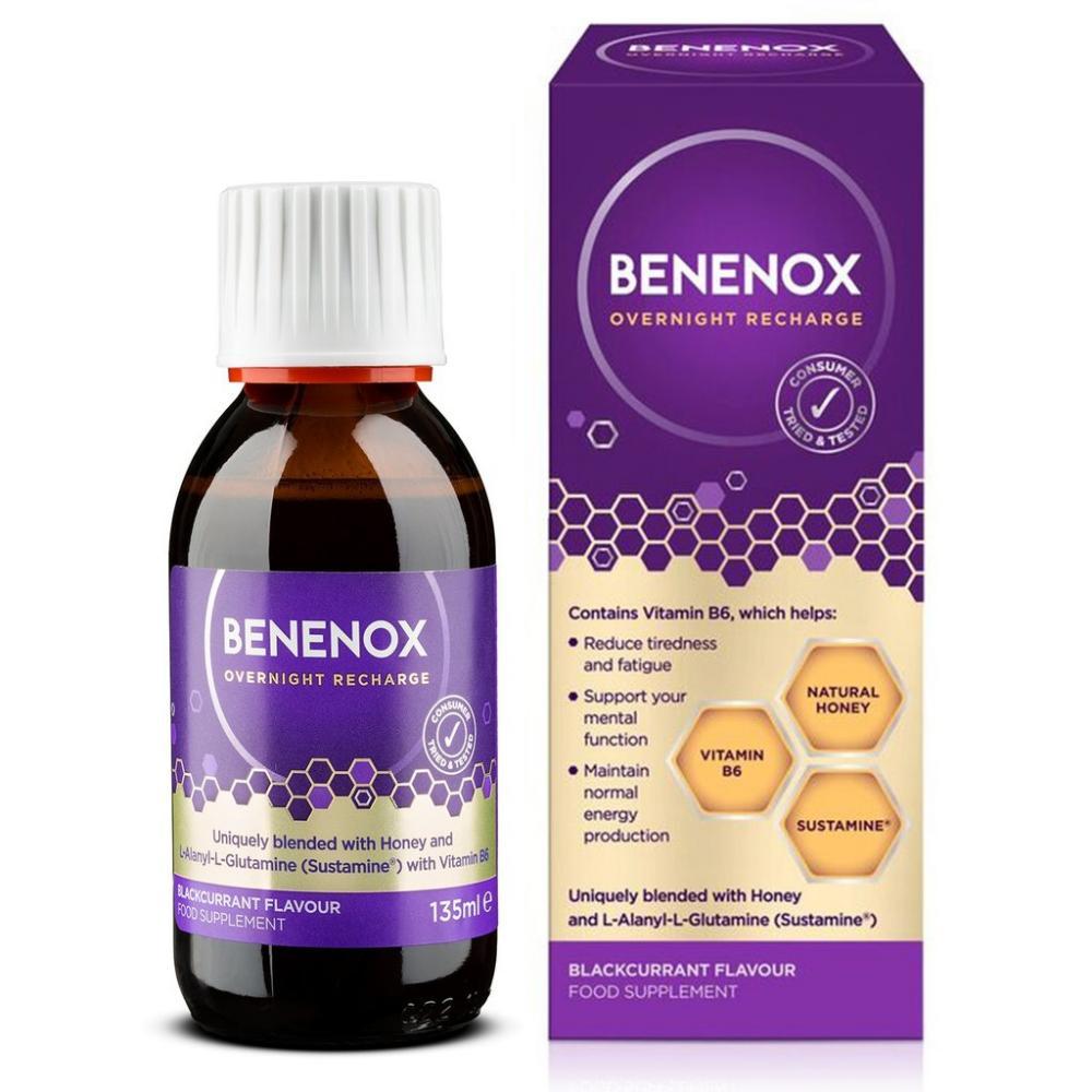 Natures Aid Benenox Food Supplement Blackcurrant Flavour 135ml