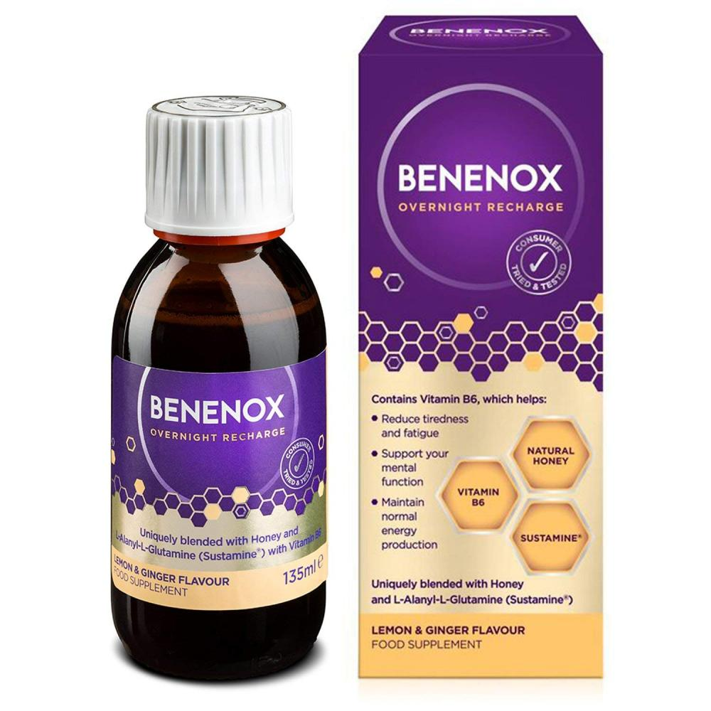 Natures Aid Benenox Overnight Recharge - Lemon and Ginger Flavour 135ml