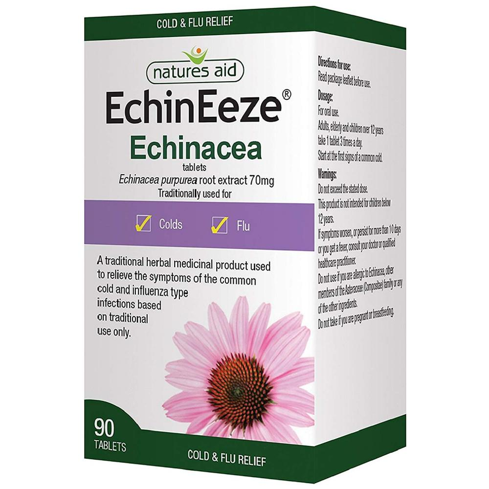 Natures Aid EchinEeze Echinacea Extract 70 mg 90 Tablets
