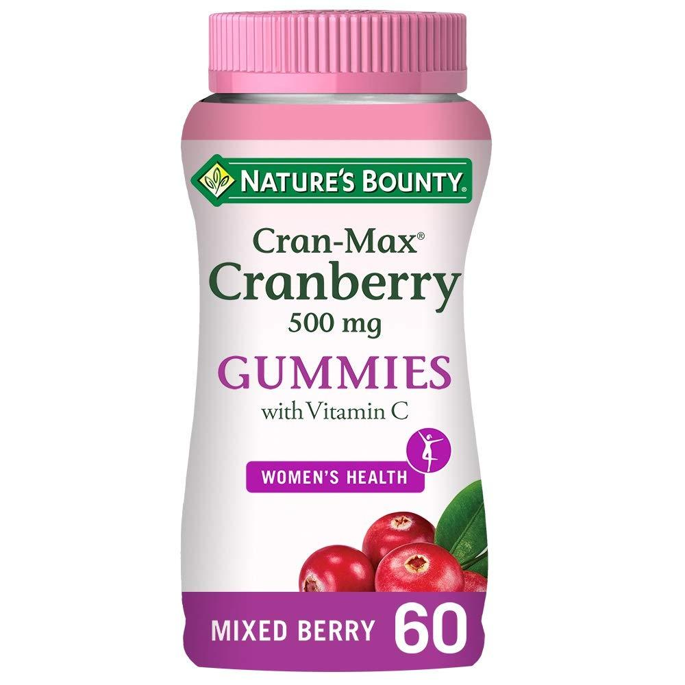 Natures Bounty Cranberry 500 mg Gummies With Vitamin C 60 Gummies