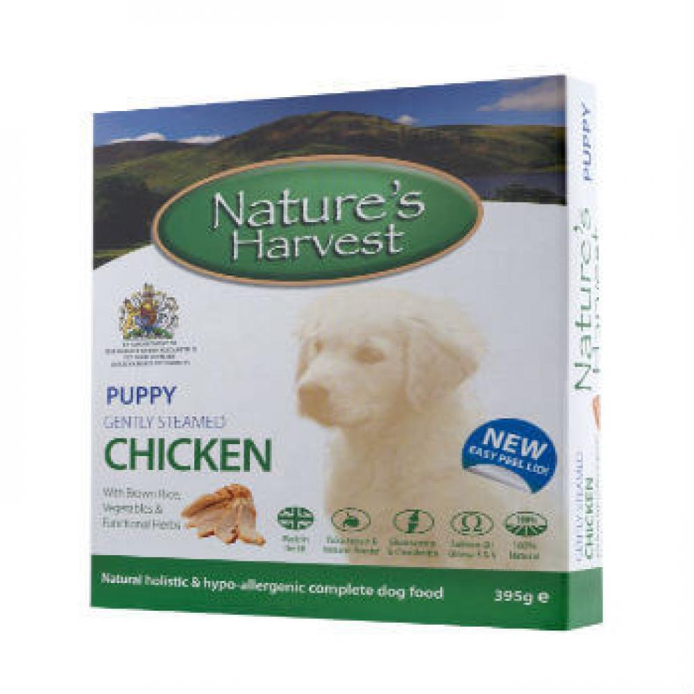 Natures Harvest Puppy Gently Steamed Chicken 395g
