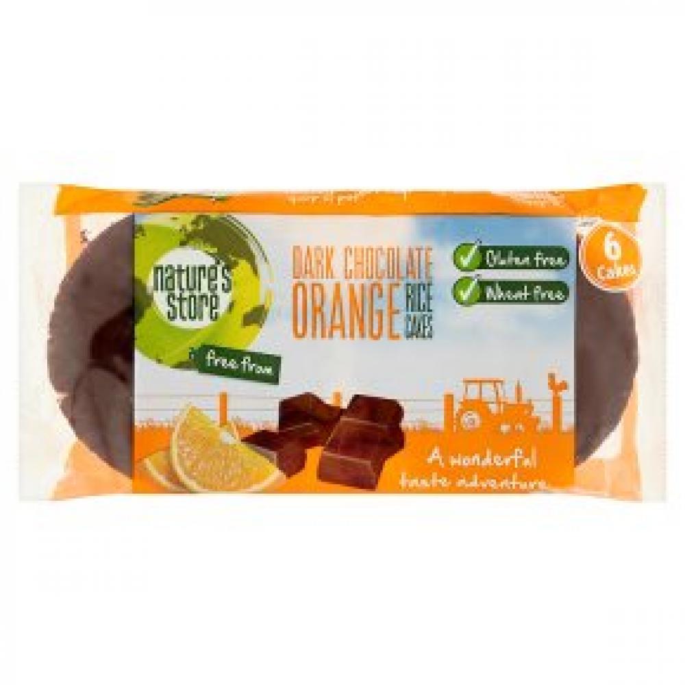 Natures Store Dark Chocolate Orange Rice Cakes 100g