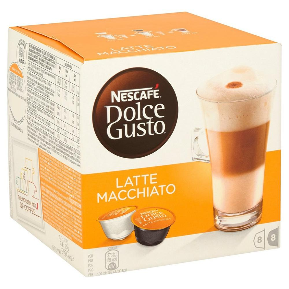 Nescafe Dolce Gusto Latte Macchiato 16 capsules makes 8 drinks