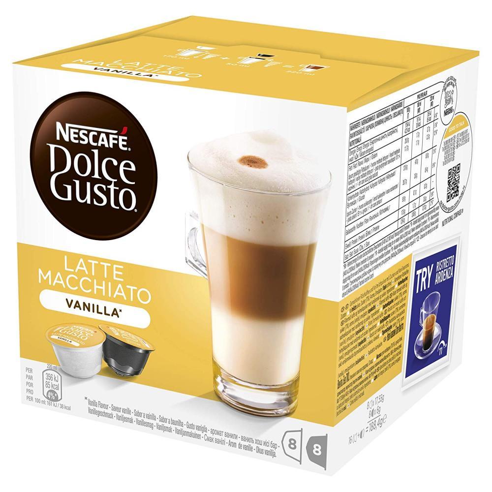 Nescafe Dolce Gusto Vanilla Latte Macchiato Coffee Pods 16 Capsules