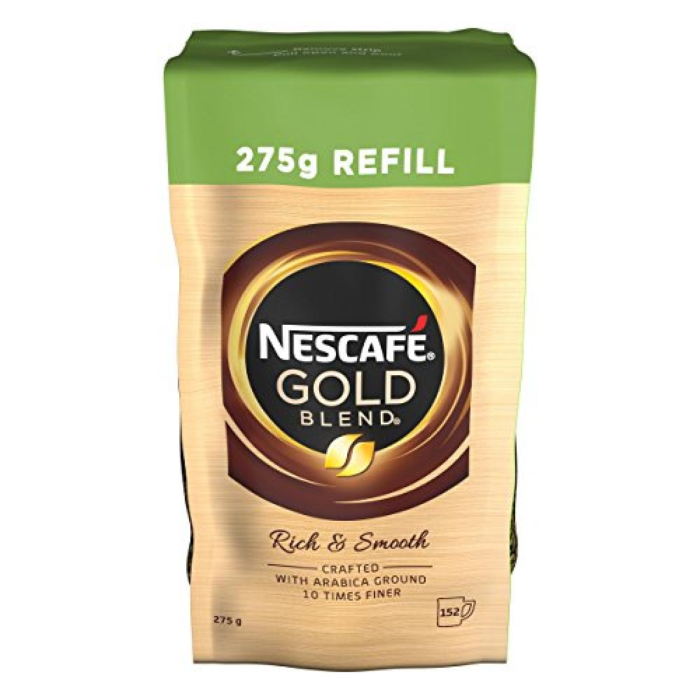 Nescafe Gold Blend Instant Coffee Refill - Rich and Smooth 275g