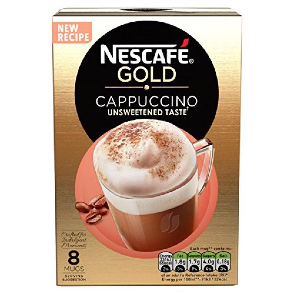 Nescafe Gold Cappuccino Unsweetened8 Sachets