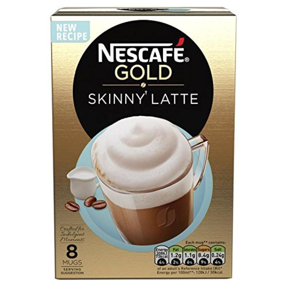 Nescafe GOLD Skinny Latte Coffee 8 Sachets x 19.5g
