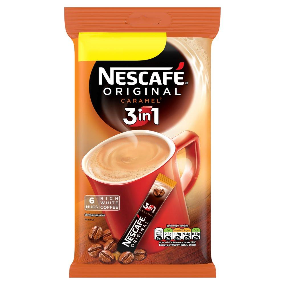 Nescafe Original 3in1 Caramel Instant Coffee 17g x 6