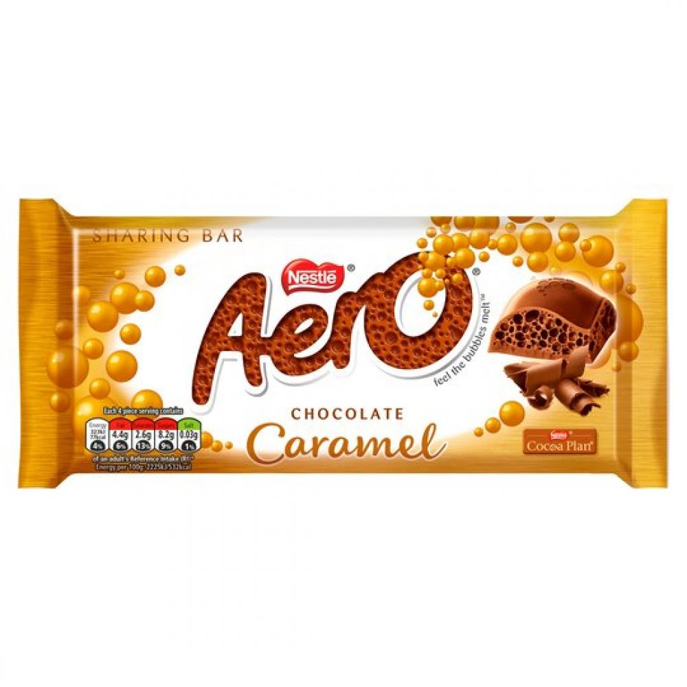 Nestle Aero Caramel Sharing Bar 90g