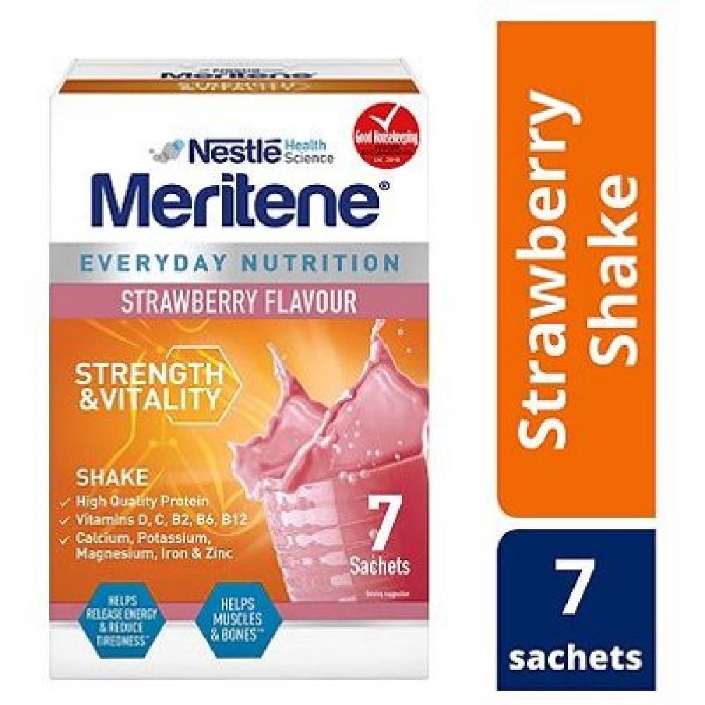 Nestle Meritene Strength and Vitality Strawberry Shake 7 x 30g