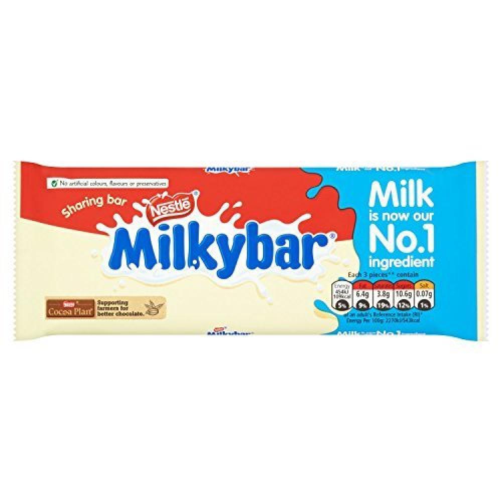Nestle Milkybar White Chocolate Sharing Bar 100g