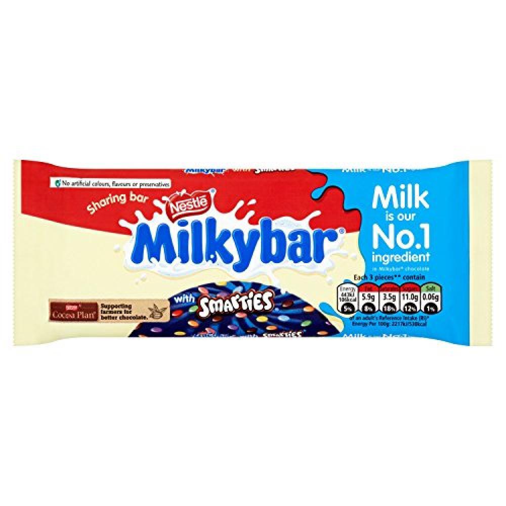 Nestle Milkybar with Smarties 100g