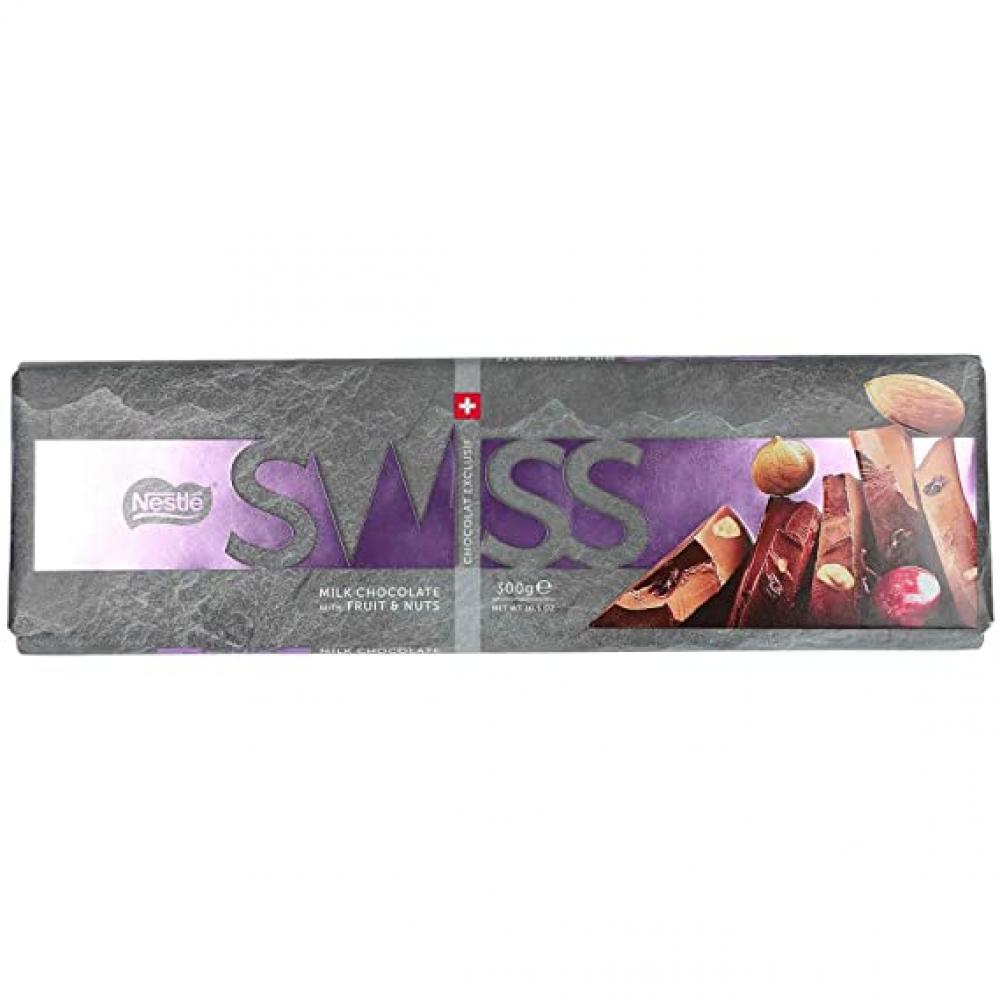 Nestle Swiss Milk Chocolate With Fruit and Nuts 300g