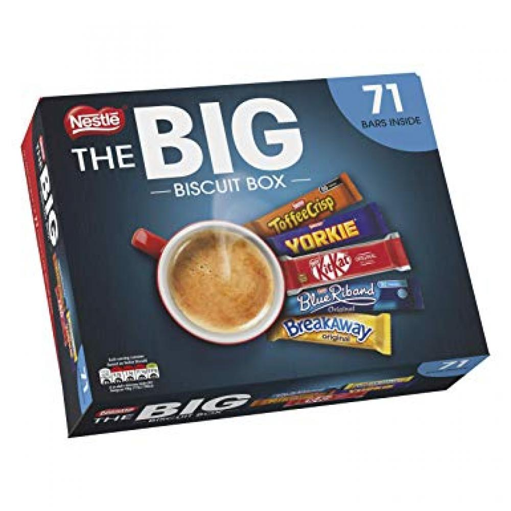 Nestle The Big Biscuit Box 71 Bars Damaged Box