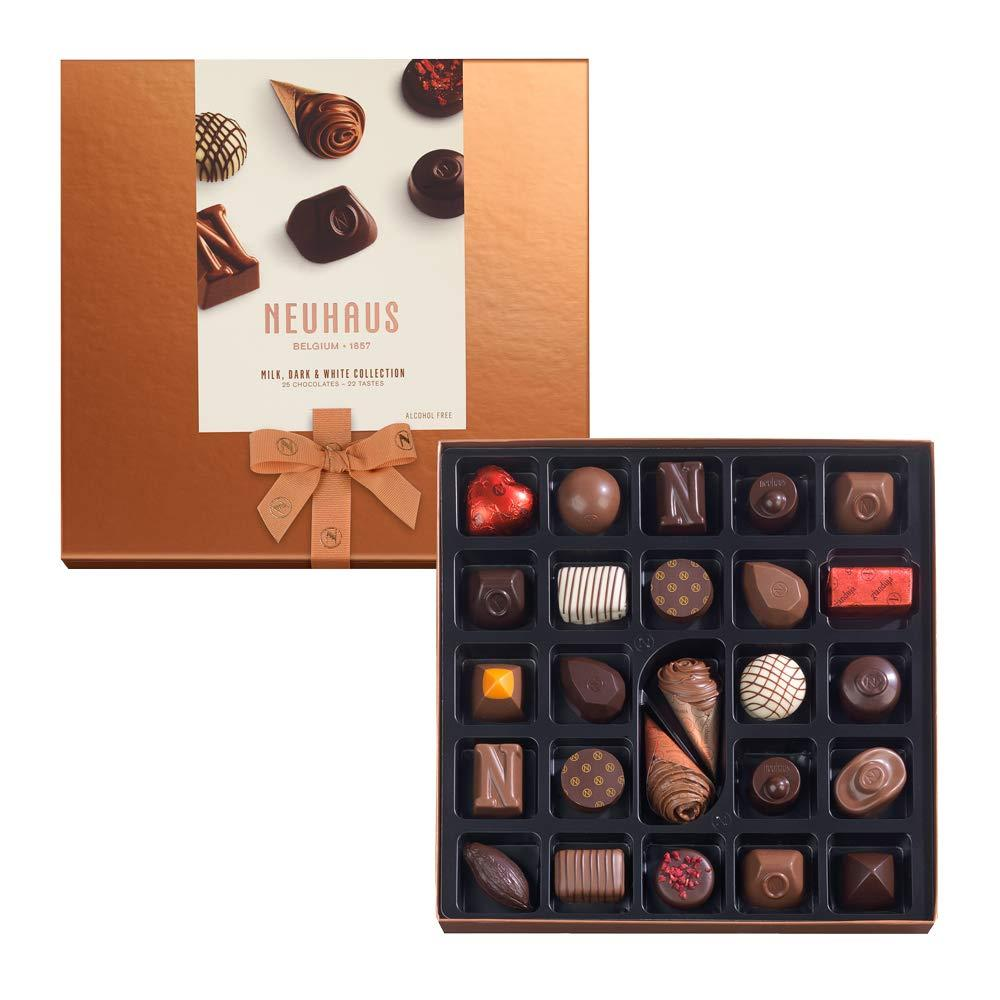 Neuhaus Milk Dark and White Collection 25 Chocolates