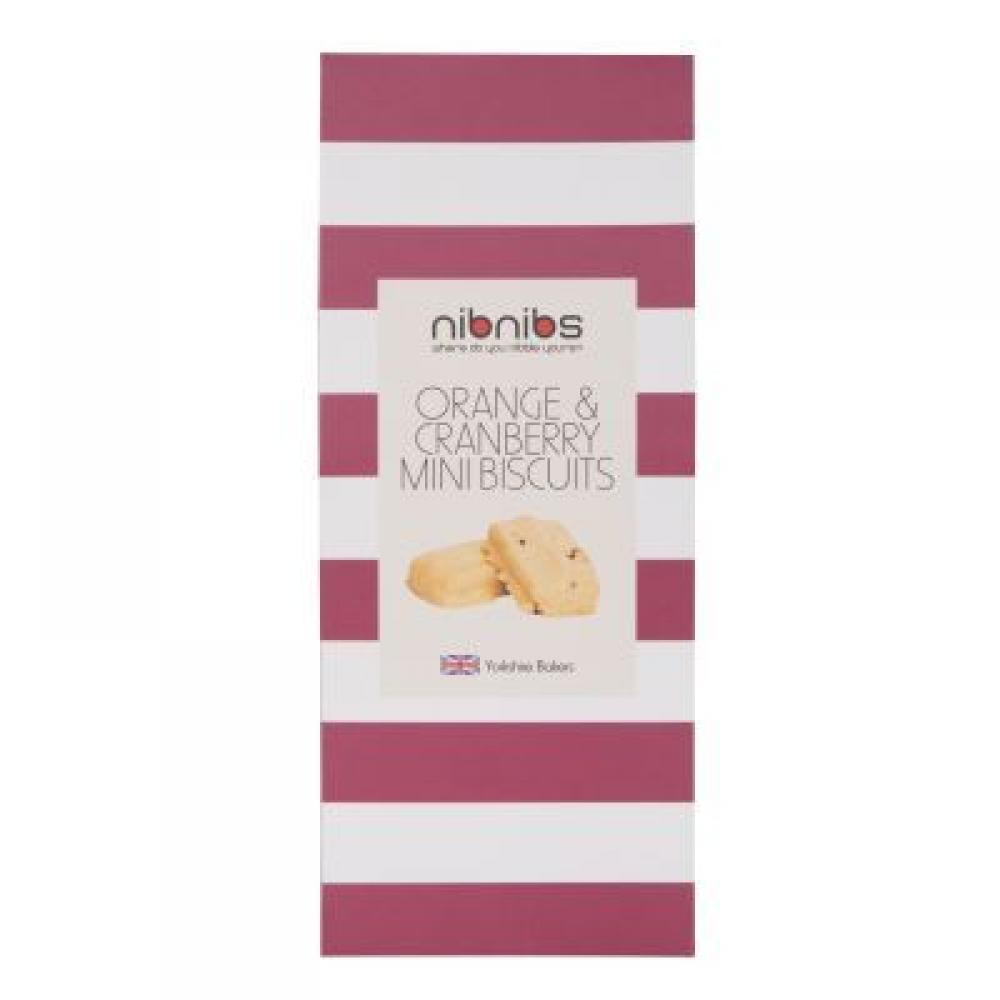 Nibnibs Orange and Cranberry Mini Biscuits 100g