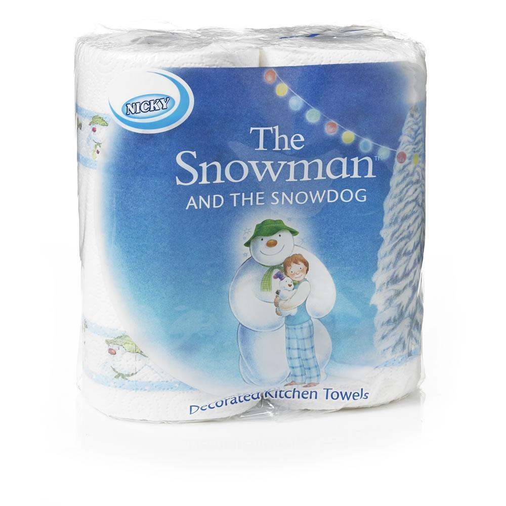 Nicky The Snowman and The Snowdog Decorated Kitchen Towels 2 Pack