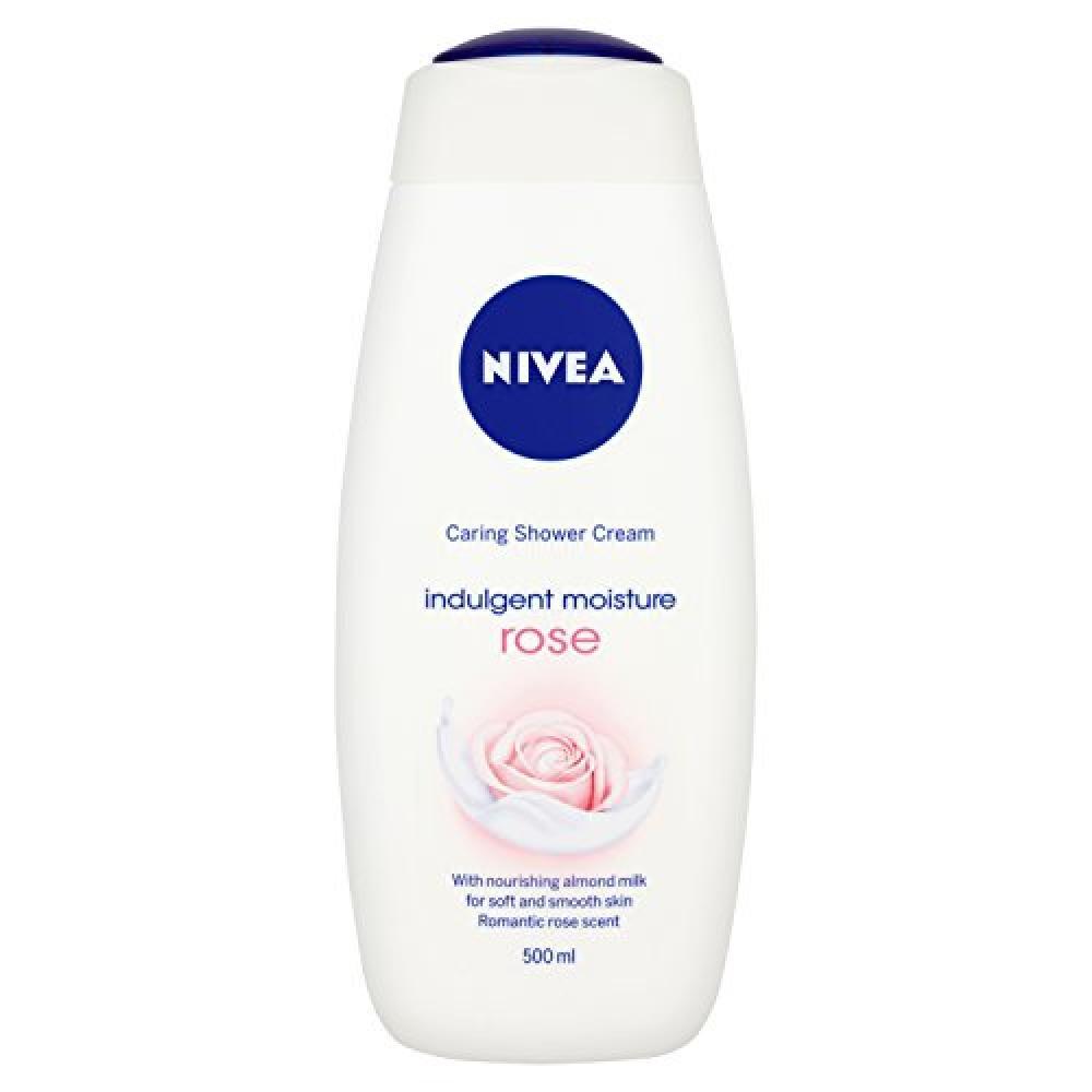 Nivea Caring Shower Gel Cream Indulgent Moisture Rose 500 ml