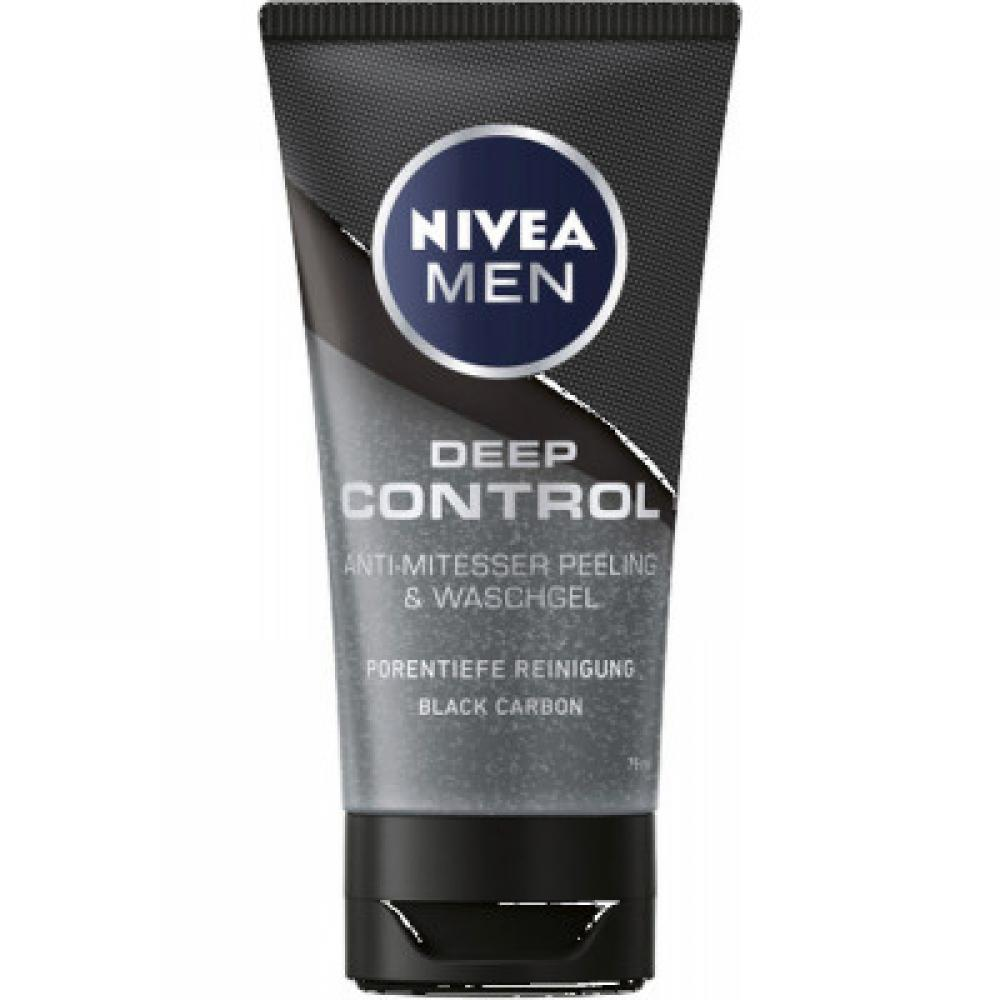 Nivea Men Deep Control Anti-Mitesser Peeling and Waschgel 75 ml