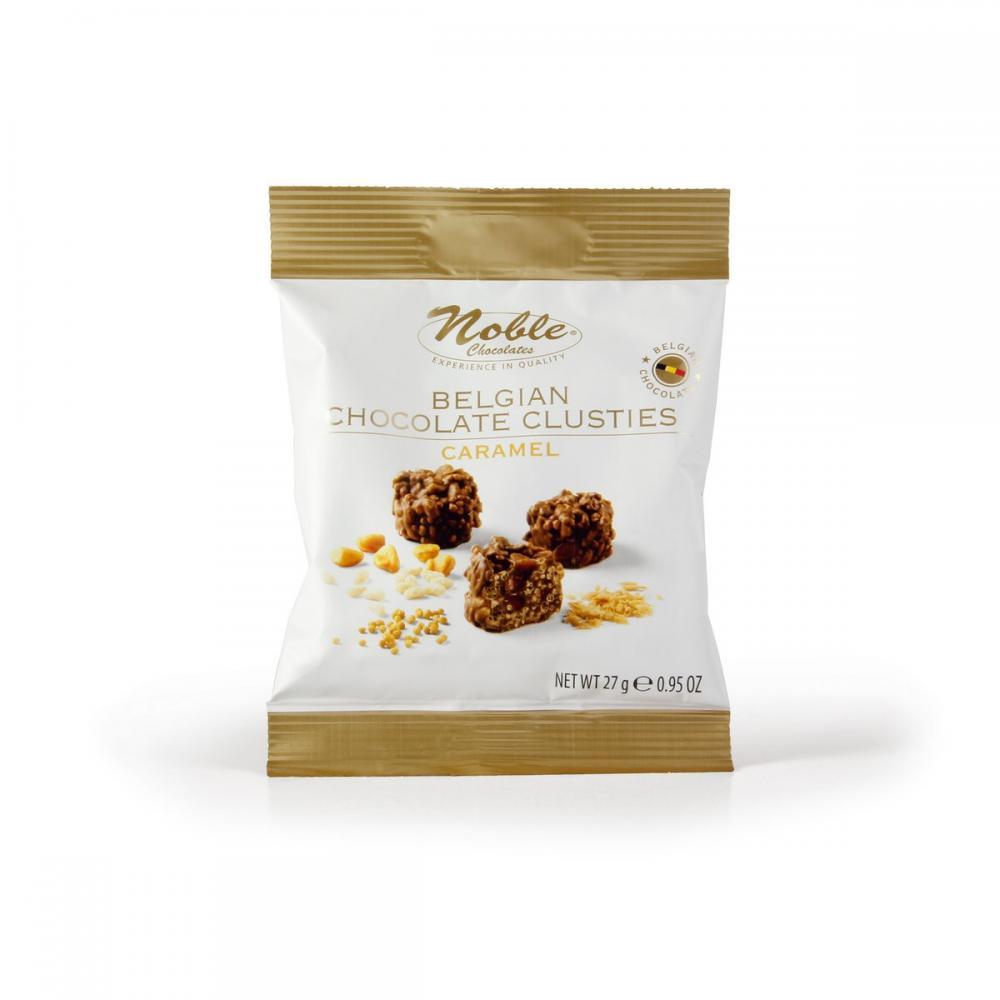 SALE  Noble Belgian Chocolate Clusties Caramel 27g