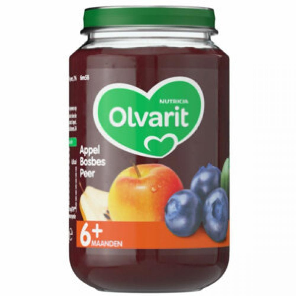 Nutricia Olvarit Fruit snack 6 months plus Apple Blueberry Pear 200 g