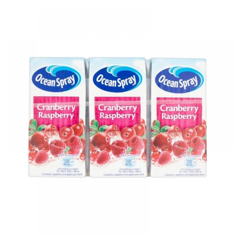 Ocean Spray Cranberry and Raspberry Juice Drink 200ml x 3