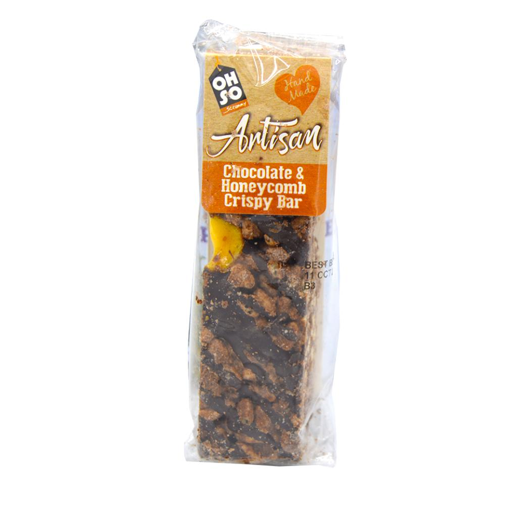 Oh So Scrummy Artisan Chocolate and Honeycomb Crispy Bar 60g