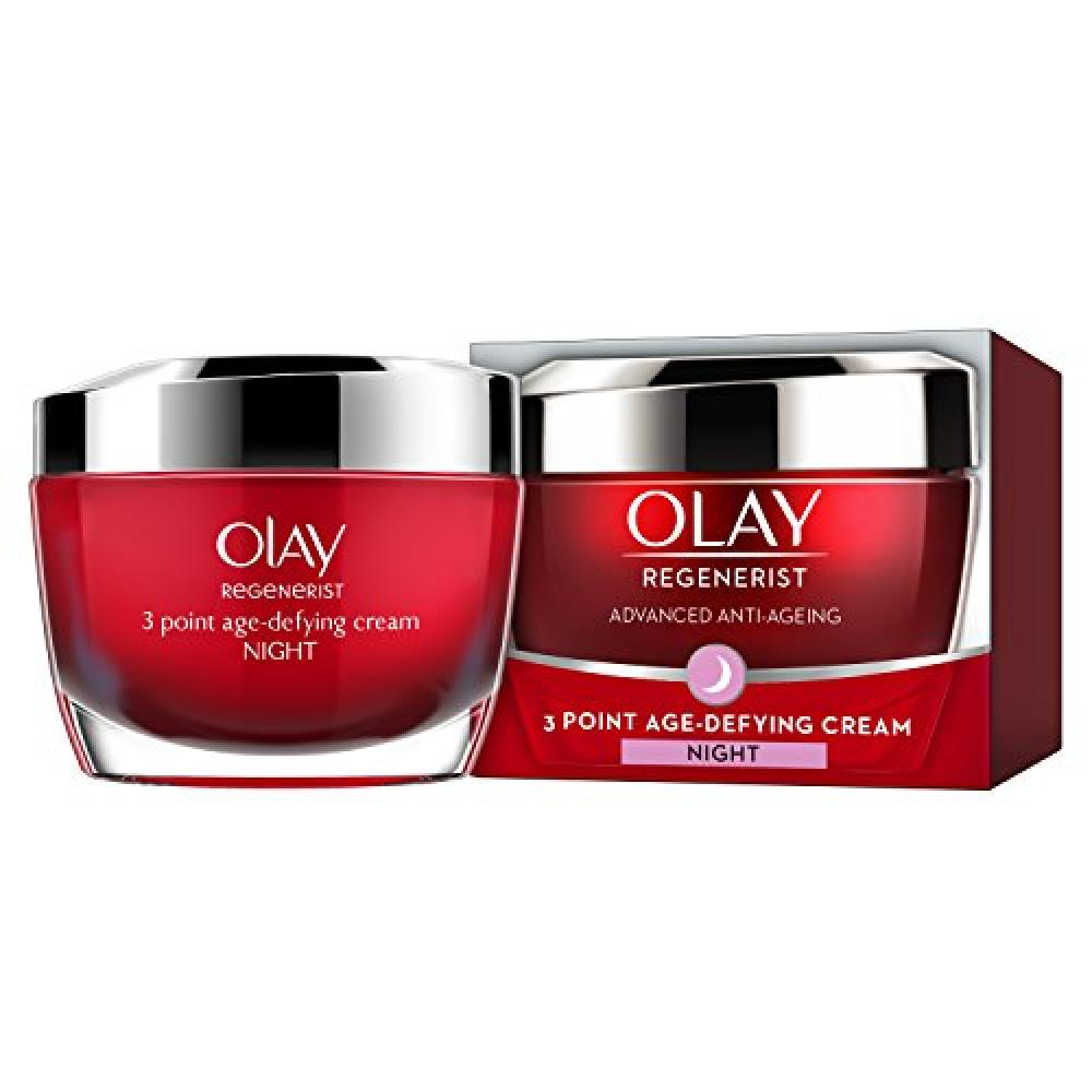 Olay Regenerist 3 Point Firming Anti-Ageing Night Cream Moisturiser for Firm Skin 50 ml