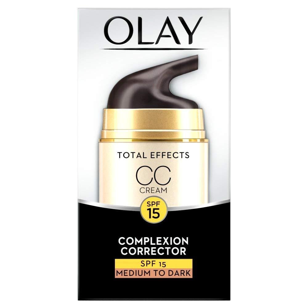 Olay Total Effects Anti-Ageing 7 in1 Complexion Correcting CC Day Cream Medium to Dark 50 ml