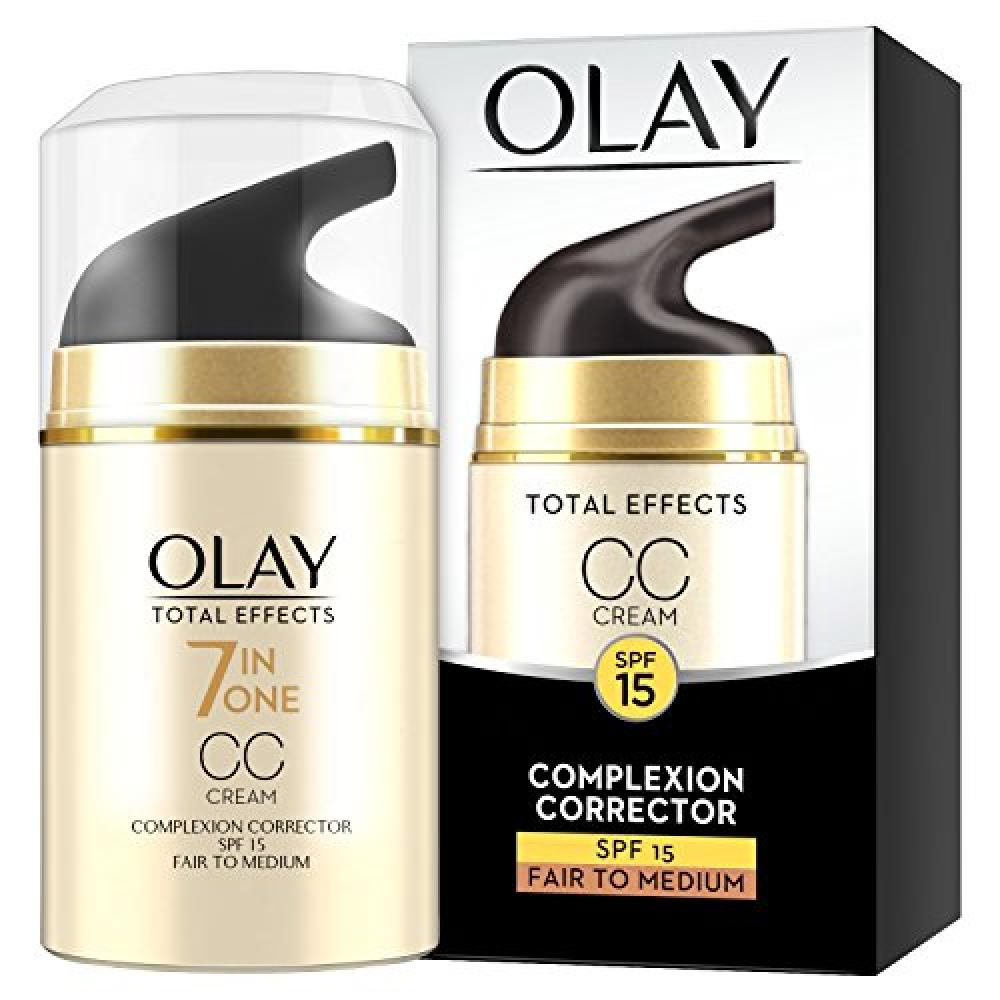 Olay Total Effects Anti-Ageing 7-in-1 Complexion Correcting CC Day Cream Fair to Medium with SPF15 for Even Skin Tone 50ml No Box