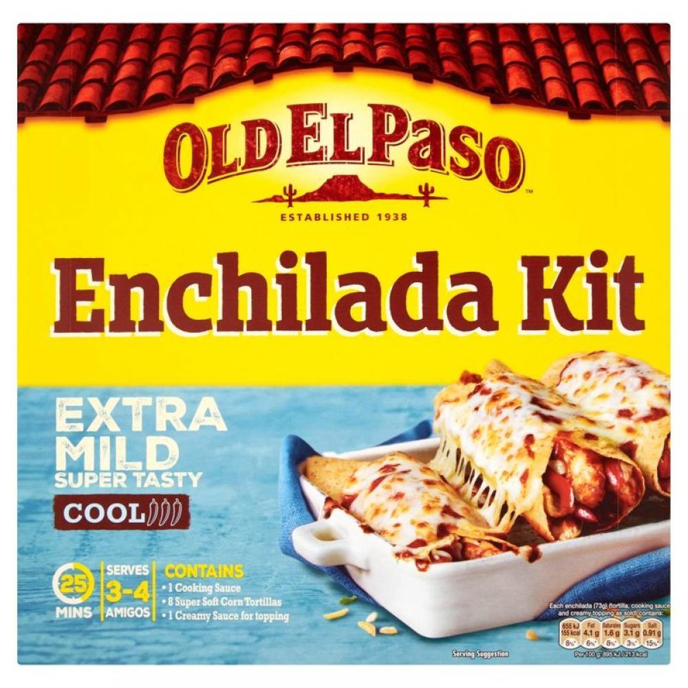 Old El Paso Enchilada Kit Extra Mild 585g