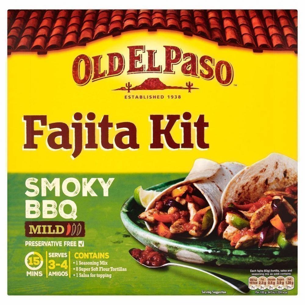 Old El Paso Fajita Kit Smoky BBQ Mild 500g