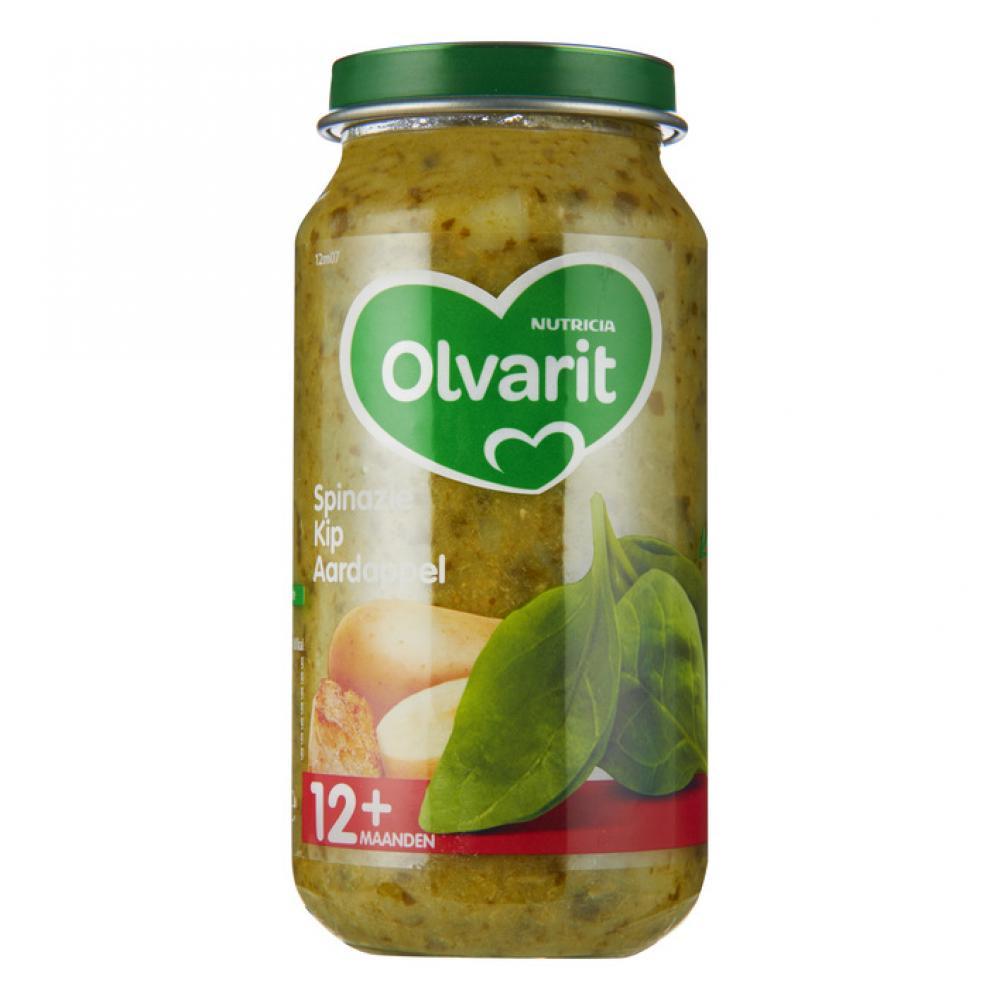 Olvarit Spinach chicken potato 12 months 250 g