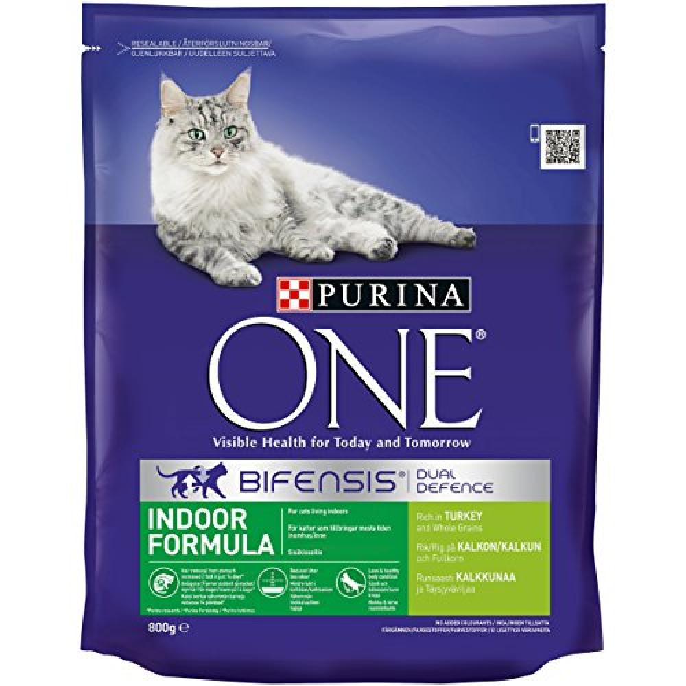 Purina ONE Indoor Formula Rich in Turkey and Whole Grains Cat Food 800 g