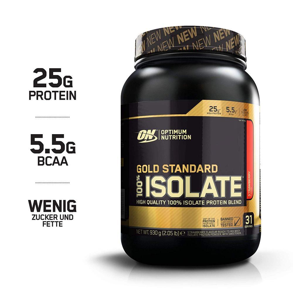 Optimum Nutrition Gold Standard Isolate Strawberry Protein Powder 930g