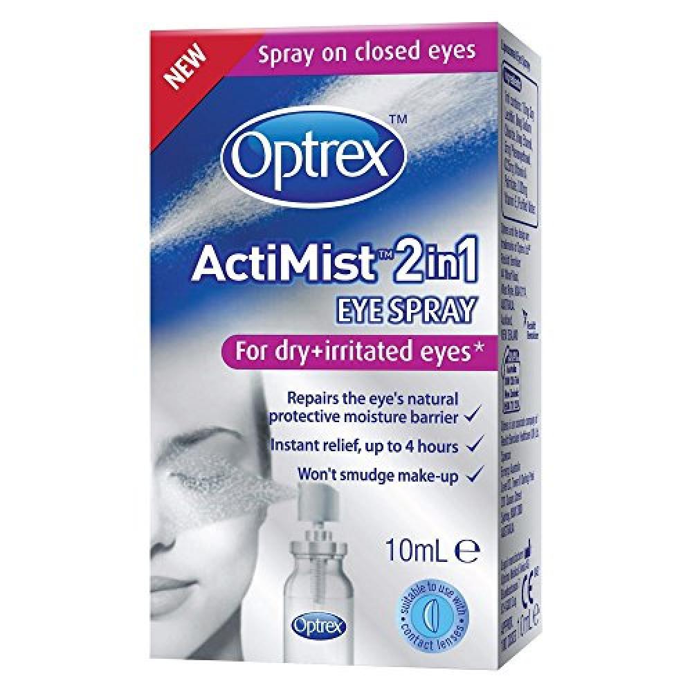 Optrex ActiMist 2-in-1 Dry Plus Irritated Eye Spray 10 ml