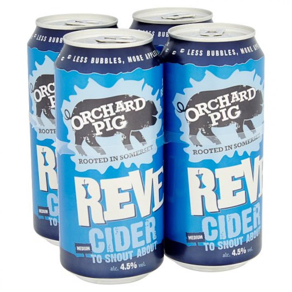 Orchard Pig Reveller Cider 440ml x 4