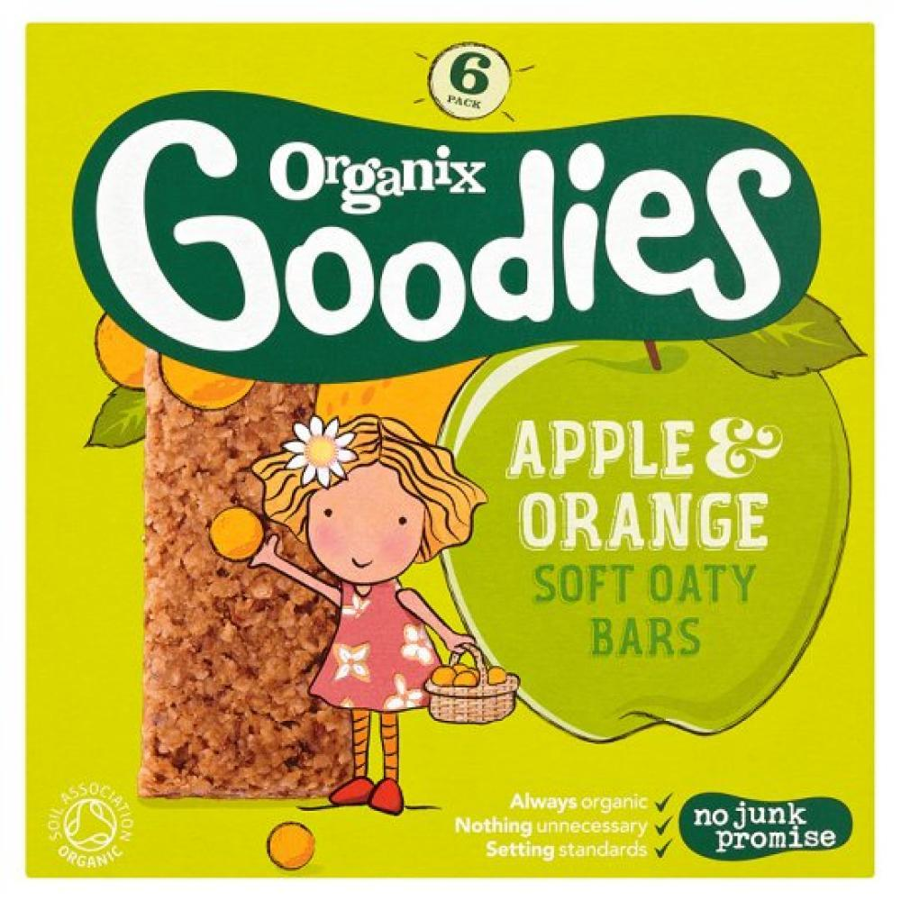 Organix Apple and Orange Soft Oaty Bar 30g x 6