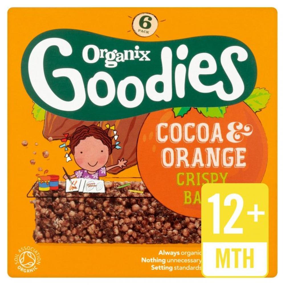 Organix Goodies Cocoa and Orange Crispy Bars 18g x 6