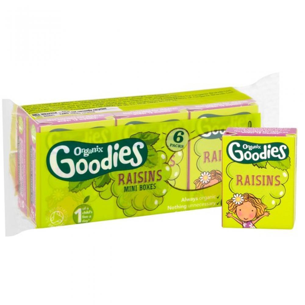 Organix Goodies Raisins Mini Boxes 14g x 6