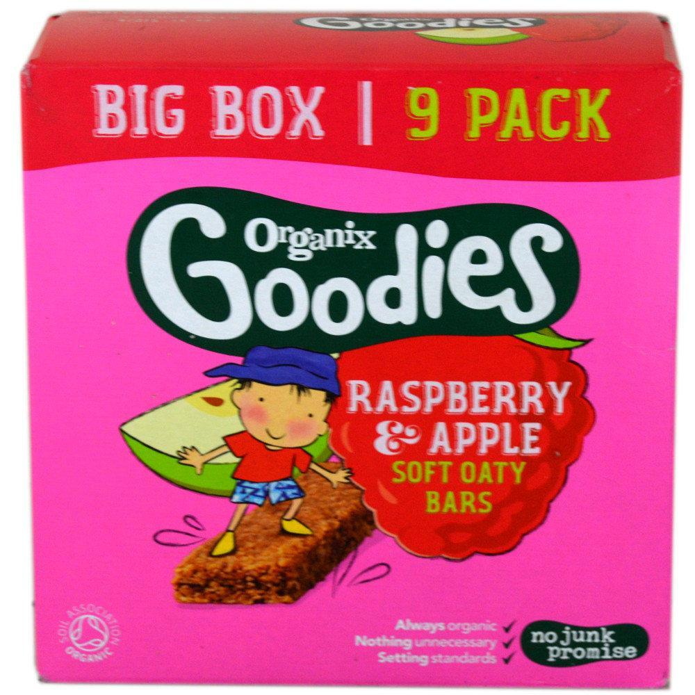 Organix Goodies Raspberry and Apple Bar 30g x 9