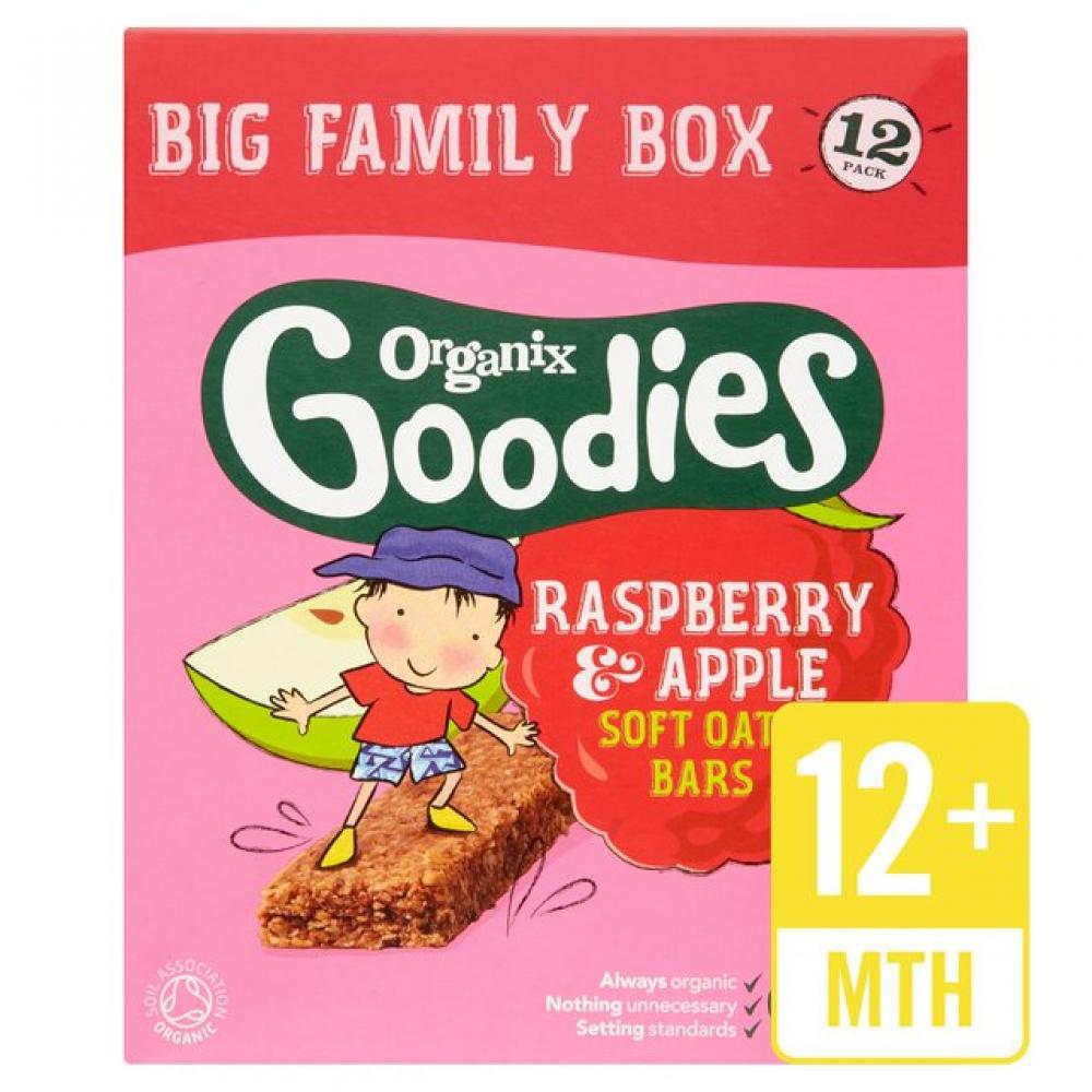 Organix Goodies Raspberry and Apple Soft Oaty Bar 30g x 12