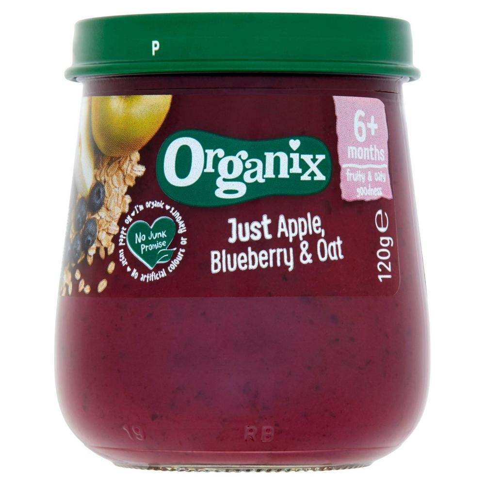 Organix Just Apple Blueberry and Oat 120g